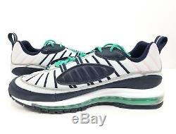 Nike Air Max 98 South Beach Tidal Wave Pure Platinum Obsidian 640744-005 Sz 12.5