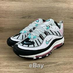Nike Air Max 98 South Beach White Black Pink Green Women Shoes Sz 8.5 AH6799-065