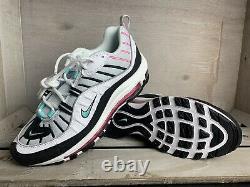 Nike Air Max 98 South Beach White Black Pink Green Women Shoes Sz 8 AH6799-065