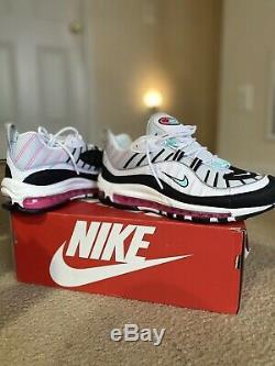 Nike Air Max 98 South Beach Women Shoes Sz 10 AH6799-065 Vapormax 95 97 98