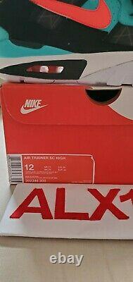Nike Air Trainer SC Retro Bo Jackson South Beach Teal Pink 302346-300 Size 12