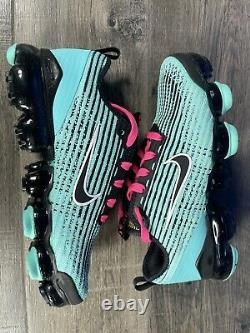 Nike Air VaporMax Flyknit 3 GS Hyper Turquoise Pink South Beach 6Y Women's 7.5