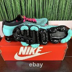 Nike Air VaporMax Flyknit 3 South Beach Teal Black Mens Size 8.5/ Womens Size 10