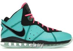Nike LeBron 8 South Beach 2021 Size 10 NEW WITH BOX AUTHENTIC IN HAND