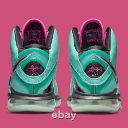 Nike LeBron 8 South Beach Men Size 10 CZ0328-400 Free Shipping