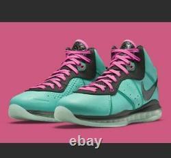 Nike LeBron 8 South Beach Men Size 7 CZ0328-400 Free Shpping