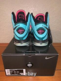 Nike LeBron 8 South Beach QS Teal Pink 2021 Mens Size 9.5 CZ0328-400 Brand New