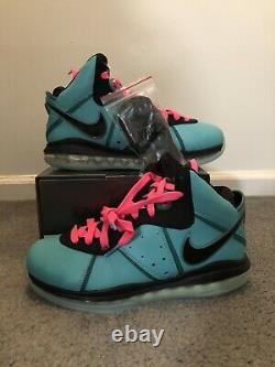 Nike Lebron 8 Retro South Beach 2021 Size 9 Mens Brand New READY TO SHIP