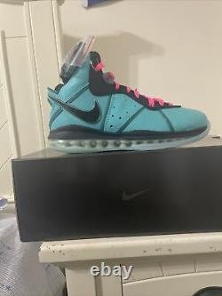 Nike Lebron 8 South Beach (2021) Men's Size 9.5 CZ0328-400