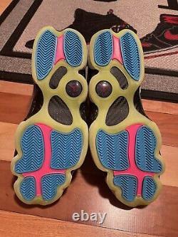 Nike Mens 10.5 Air Jordan 6 Six Rings Shoes White/ Blue South Beach CK0018-100