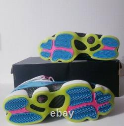 Nike Mens Sz 12 Air Jordan 6 Six Rings Shoes White/ Blue South Beach CK0018-100