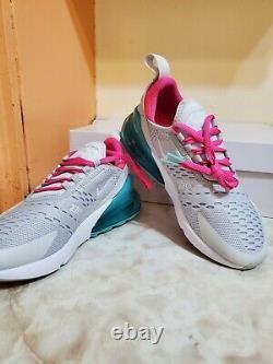 Nike Women's Air Max 270 Grey Pink White South Beach 2019 AH6789-065 Size 5.5