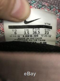 Nike Womens Air VaporMax Flyknit 3 Size 6 South Beach Lavender Teal AJ6910-500