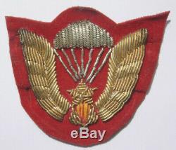 Original Vietnam War SVN Airborne Bullion Beret Badge South Vietnam