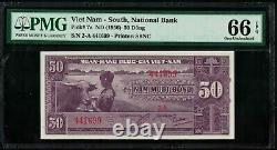 P7a South Vietnam 50 Dong 1956 GEM UNC PMG66EPQ TOP TOP