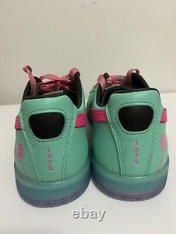 PUMA Clyde South Beach Miami Florida Teal Palm Tree Casual Shoes Mens Sz 13 NEW
