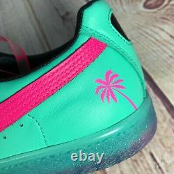Puma Clyde 1973 South Beach Miami Palm Tree Leather Teal Green Pink Mens Sizes