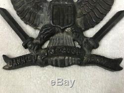 Rare South Vietnam Solid Brass Reliefs Honor fatherland responsibility