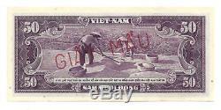 SOUTH VIETNAM 50 DONG 1956 SPECIMEN GIAY MAU UNC- P 7 s