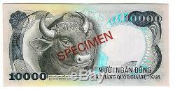 SOUTH VIETNAM SPECIMEN 10000 10.000 DONG 1975 UNC P 36 s