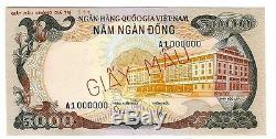 SOUTH VIETNAM SPECIMEN 5000 5.000 DONG 1975 UNC P 35 s