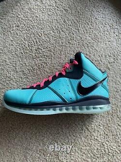 Size 15 Nike LeBron VIII 8 V1 Retro South Beach (2021)