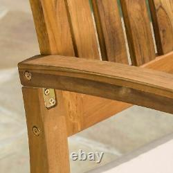 South Hampton Rocking Chair with Cushion (Set of 2) & Accent Table