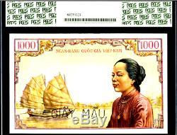 South Viet Nam pick 4As 1000 DONG 1955 OLD MAN TEMPLE PCGS 65PPQ GEM UNIQUE