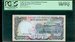 South Vietnam 10,000 Dong (1975) Pick 36s Giay Mau