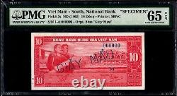South Vietnam 10 dong 1955 pmg 65