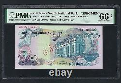 South Vietnam 1000 Dong ND(1971) P29s1 Specimen Uncirculated Grade 66