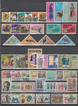 South Vietnam 1957-1971 100% Complete Collection Scott#63-407 MNH Luxe. White Gum