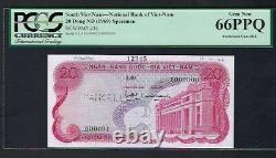 South Vietnam 20 Dong ND(1969) P24s Specimen Uncirculated Graded 66