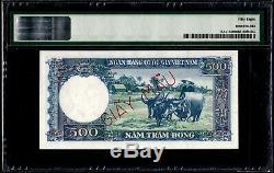 South Vietnam 500 Dong 1955 Specimen PMG58