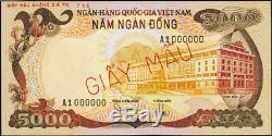 South Vietnam 5000 and 10,000 Dong (1975) Pick 35s1 36s1 Specimens UNIQUE