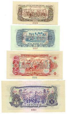 South Vietnam 8-pc Specimen 10 Xu-50 Dong 1966 Unc P 37 38 39 40 41 42 43 44
