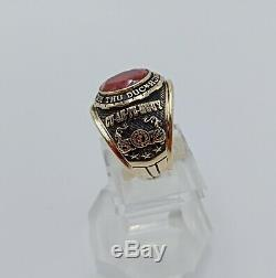 South Vietnam Army THU C ACADEMY Rings, Gold 10k RUBY Stone size 9.5