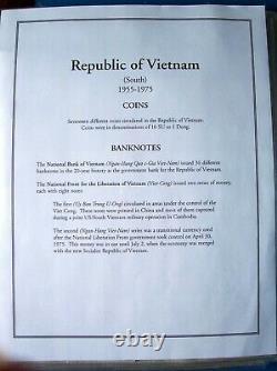 South Vietnam Complete coins/banknote collection in album. Read description