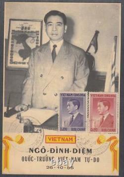South Vietnam Maxicard President NgoDinhDiem 1955