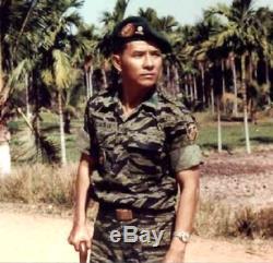South Vietnamese Marine Corps Vietnam VNMC TIGER STRIPE CAMO COMBAT SHIRT Vtg