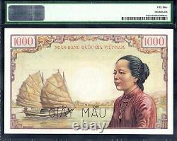 VIETNAM SOUTH, 1000 dong, 1955, PICK #4As, PMG55, SPECIMEN, Ex Rare Banknote