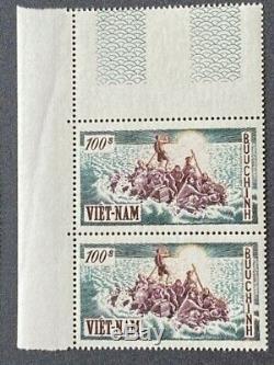 VIETNAM SOUTH 1955 Sc 30/35 x 2 Shiny White Pristine NHXF