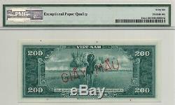 VIETNAM, SOUTH, 200d, 1955, PICK 14As1, PMG66epq SpecImen, Ex Rare Banknote
