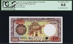 VIETNAM SOUTH, 500 dong, 1964, PICK 22s2, PCGS64 SPECIMEN Very Rare Banknote