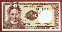 VIETNAM SOUTH SPECIMEN 100 DONG 1966 PICK# 19s2 Choice UNC. (#254)
