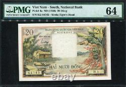 Viet Nam South 1956, 20 Dong, H5-64543, P4a, PMG 64 Original UNC