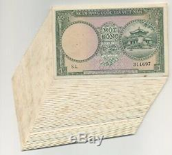 Viet Nam south Vietnam 1 Dong 1956 Pick 1 aUNC Almost Uncirculated Lot 40 Stain