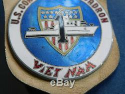 Vietnam COAST GUARD SQUADRON ONE Pocket Hanger BADGE South Vietnam Made