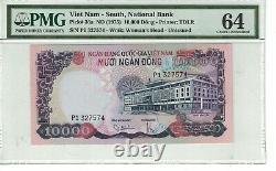 Vietnam South 10,000 Dong 1975 PICK# 36a PMG 64 UNC. (#2368)