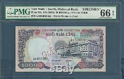Vietnam South 10000 Dong SPECIMEN, P 36s, 1975, PMG 66 EPQ Gem UNC